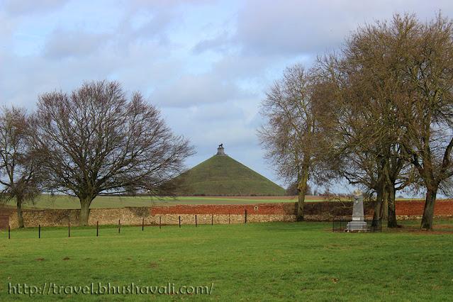 Waterloo Lion's Mound Butte de Leon Napoleon's last battlefield