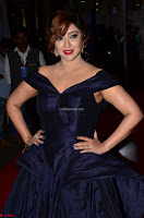 Payal Ghosh aka Harika in Dark Blue Deep Neck Sleeveless Gown at 64th Jio Filmfare Awards South 2017 ~  Exclusive 010.JPG