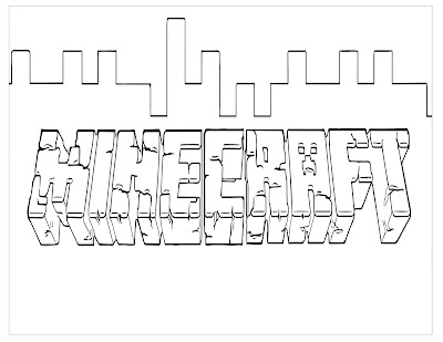 Minecraft coloring page logo