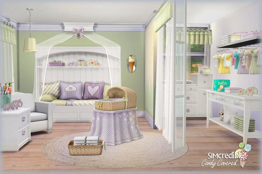 Sims 4 cc's   the best: candy covered kid's room set by ...