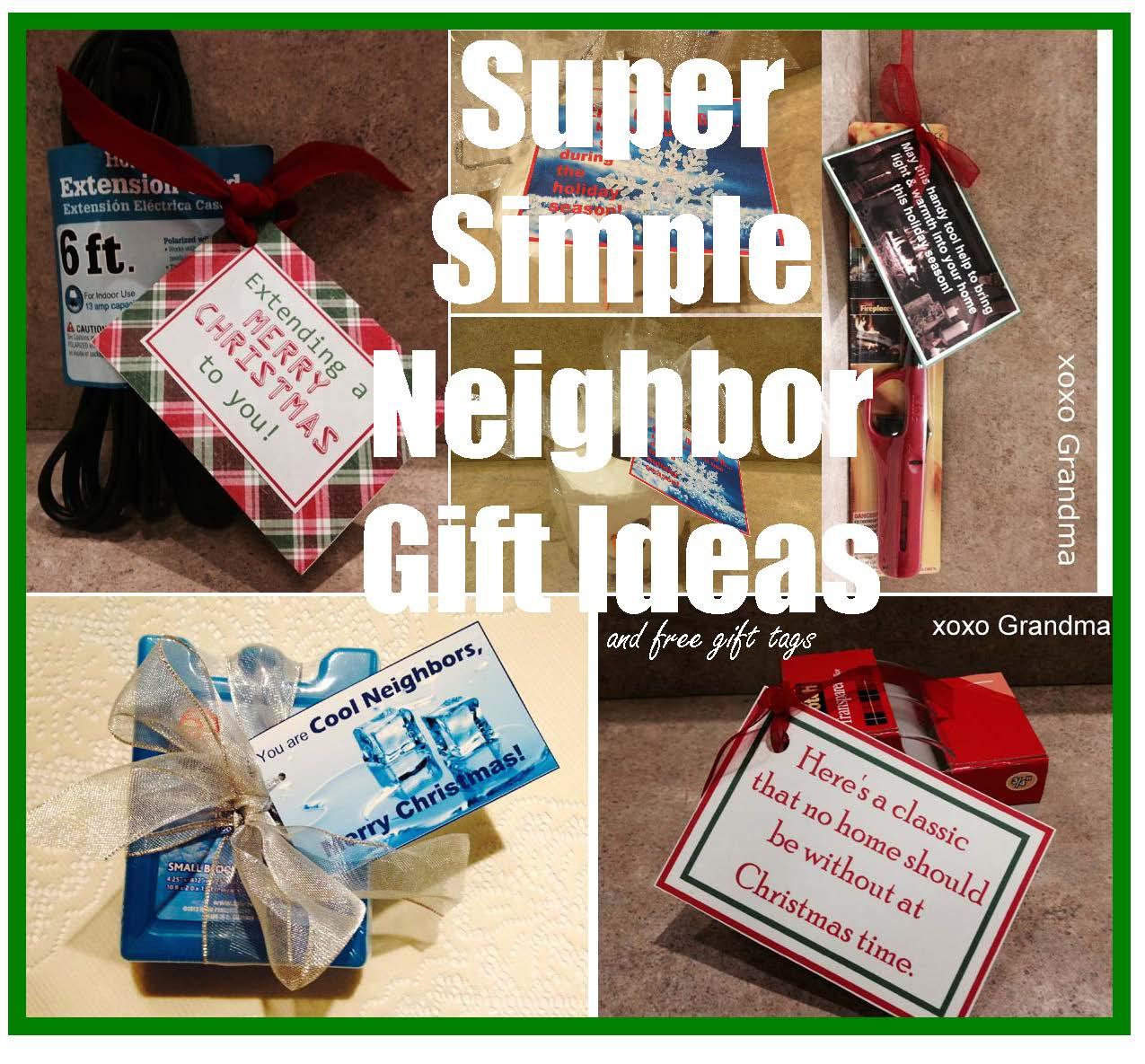 xoxo Grandma: Five Christmas Neighbor Gift Ideas
