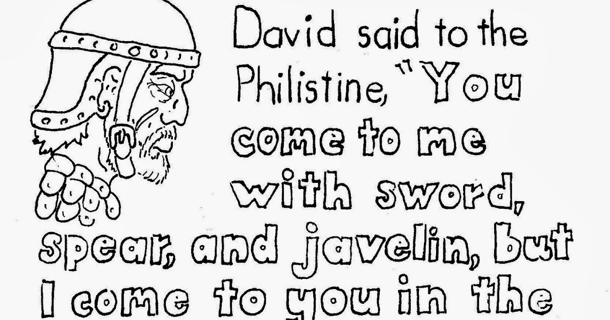 Coloring Pages for Kids by Mr. Adron: David And Goliath
