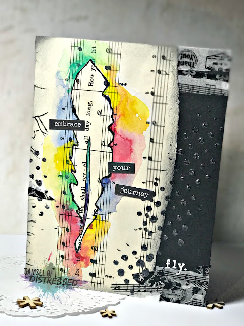 stamped_stencil_mixed_media_card_feather_fly_watercolor
