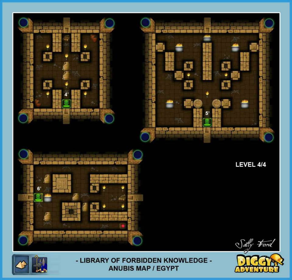 Diggy's Adventure Walkthrough: Anubis Egypt Quests / Library of Forbidden Knowledge