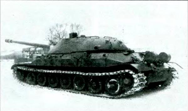 Танк ИС-7 (Объект 260) на испытаниях. Зима 1948 г.