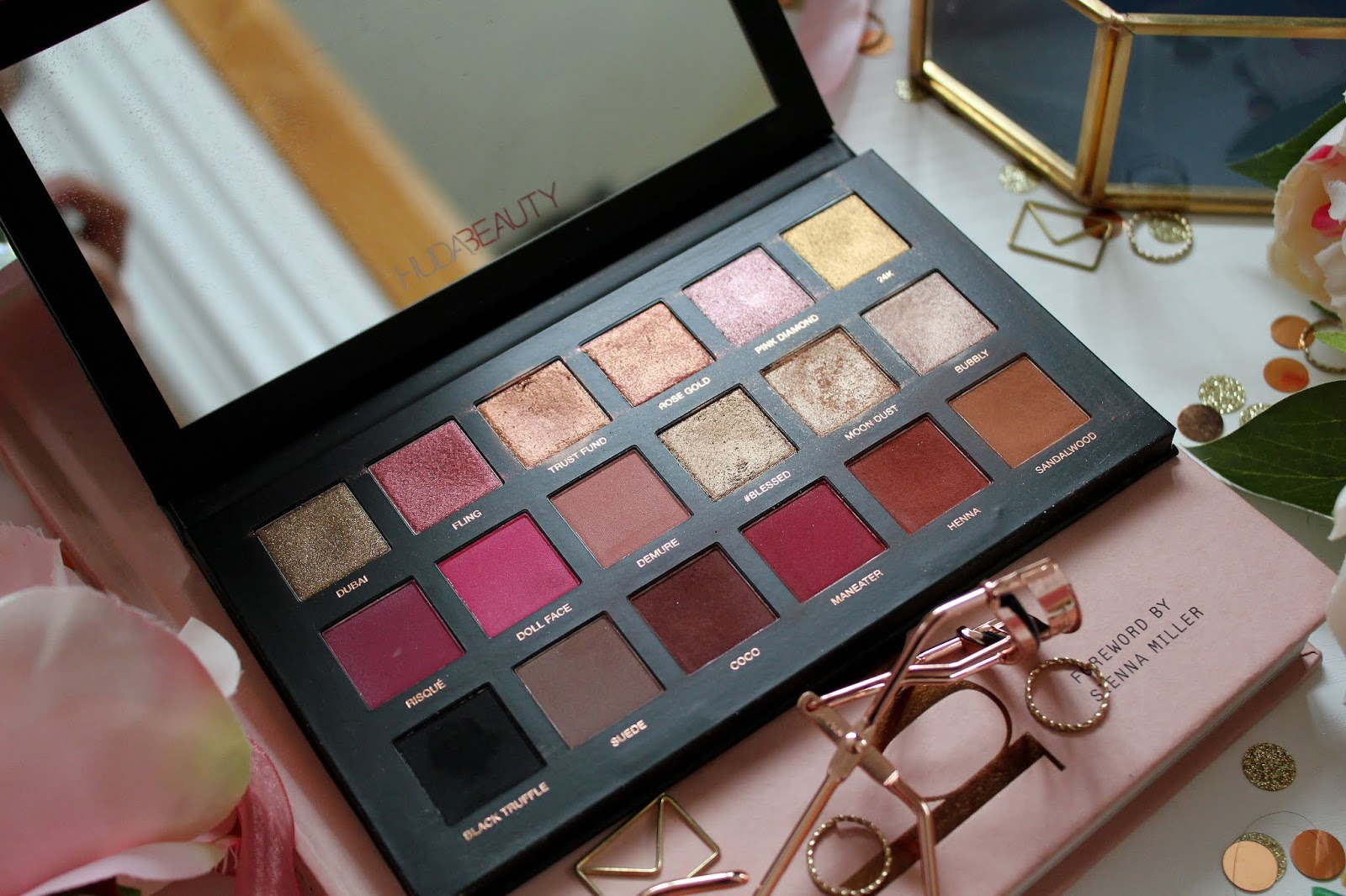 Huda Beauty Rose Gold Remastered Palette Review Fashion Train