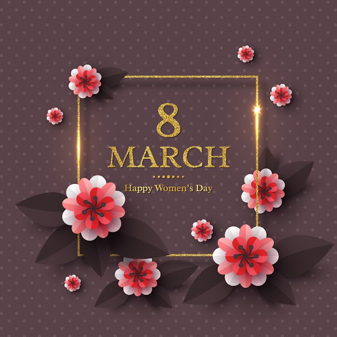 Happy woman day greeting card free vector