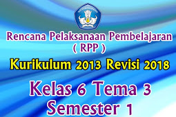 Perangkat RPP Kelas 6 Tema 3 Semester 1 K13 Revisi 2018