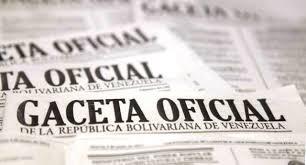 YA SALIÓ PUBLICADA LA GACETA Nº 40.982 del 06 de septiembre de 2016
