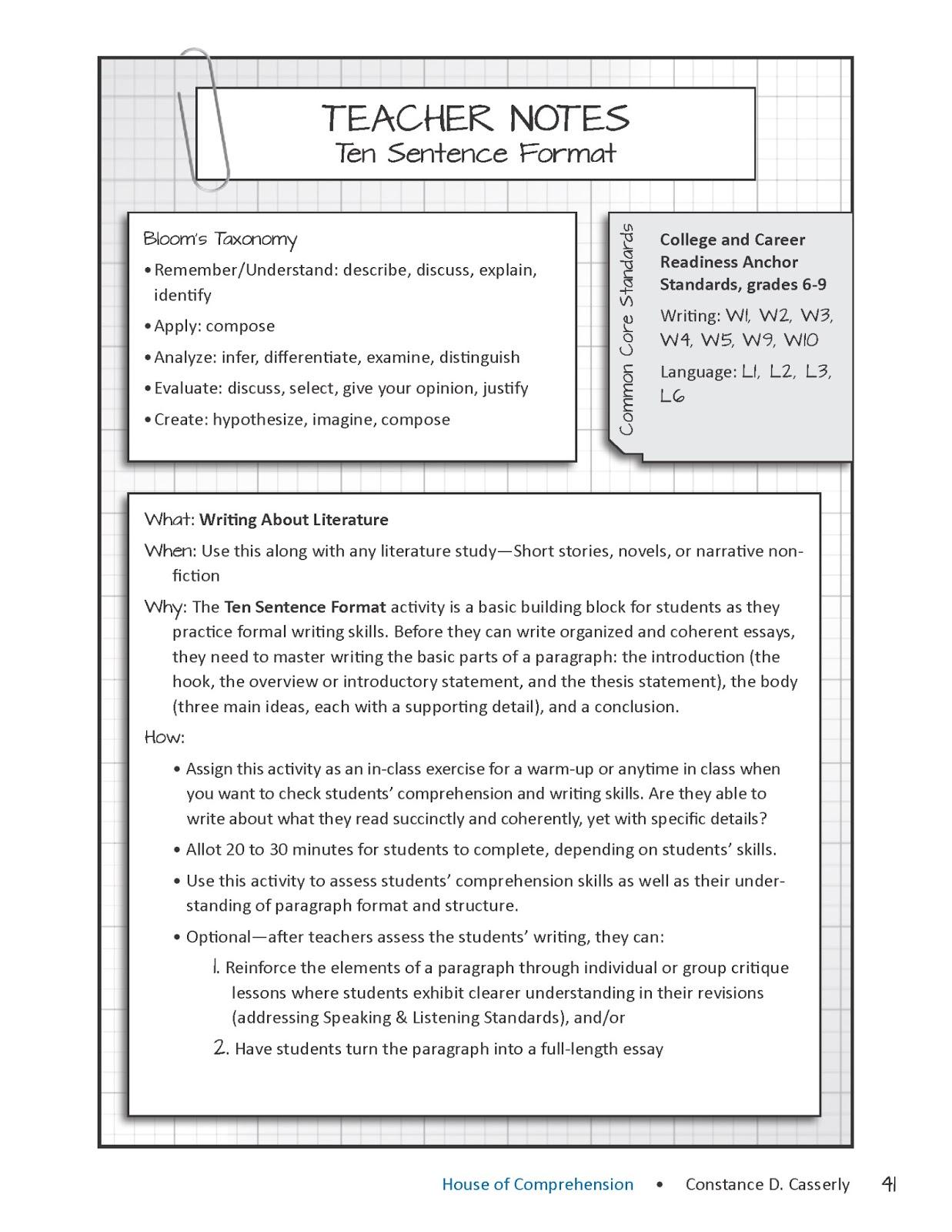 Essay about a teacher