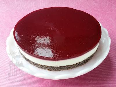 Himbeer Quark Topfen Torte mit Mohn