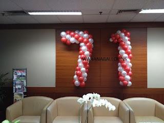 bentuk karakter angka balon dekorasi