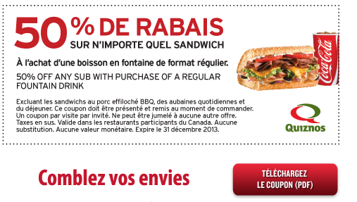 coupon gratuit quebec