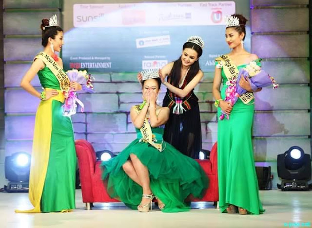 Meriya Subba was crowned by Sunsilk Mega Miss North East 2015 Jessica Marbaniang