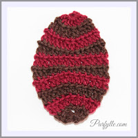 Plain Easter Egg Back Loop Crochet Pattern