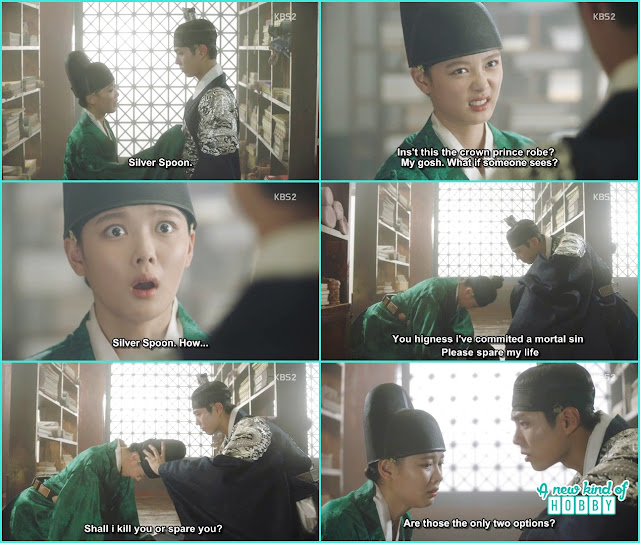 finally ra on come to knew silver spoon is the crown prince - Love in The Moonlight - Episode 4 Review