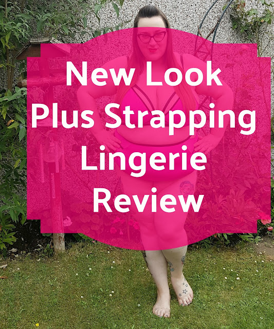 New Look Curves Plus size underwear review - pink strappy set