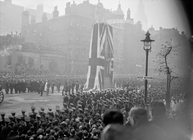 'Unveiling of the Cenotaph London and funeral of the Unknown Soldier,Armistice Day 1920