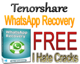 Tenorshare WhatsApp Recovery v2.4 Free Download With License Key For Free