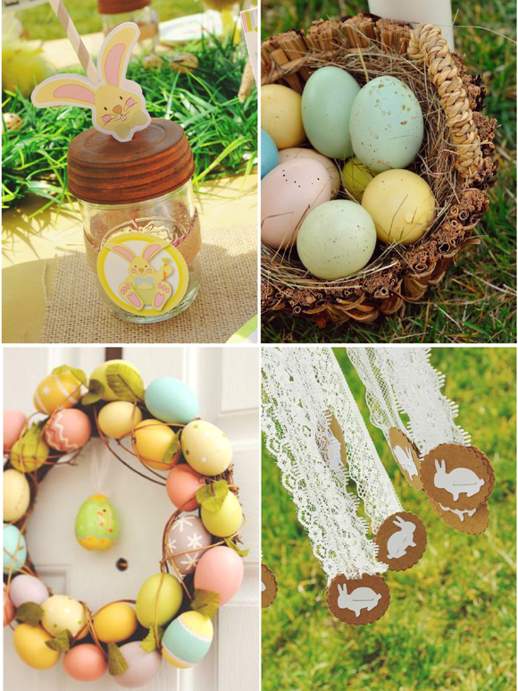 A Sweet Family Brunch Easter Egg Hunt Party - via BirdsParty.com