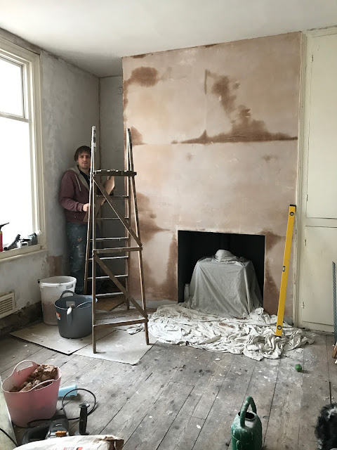 DIY plastering a chimney