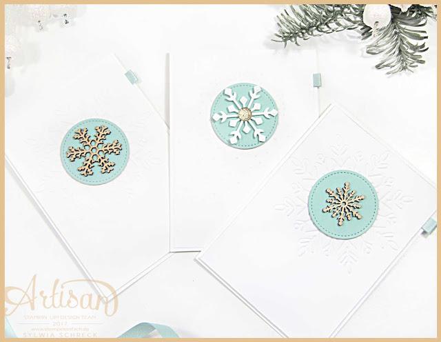 Stampin Up Weihnachtskarten - Schneeflocke