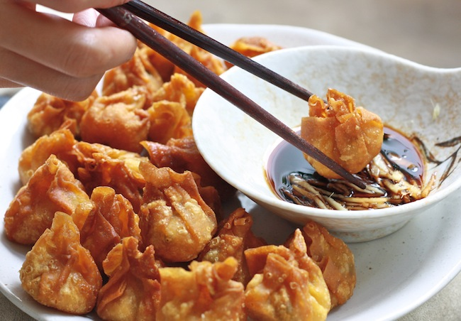 fried dumplings for chinese new year recipe by SeasonWithSpice.com