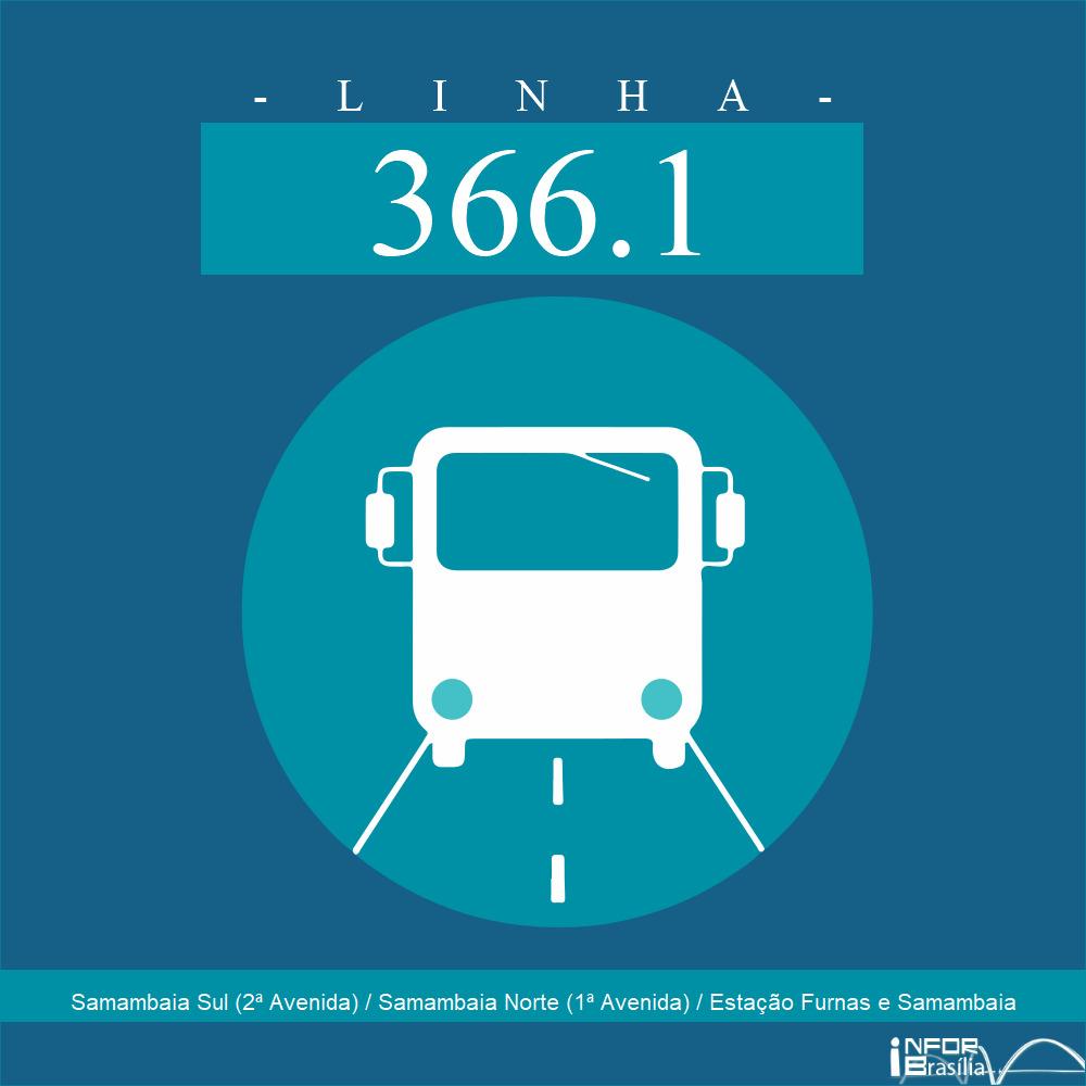 Horário e Itinerário 366.1 - Samambaia Sul (2ª Avenida) / Samambaia Norte (1ª Avenida) / Estação Furnas e Samambaia
