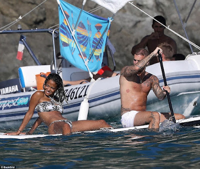 Christina Milian and beau, Matt Pokora celebrates their anniversary as they pack on the PDA during boat trip in St Tropez