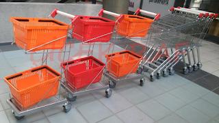 Çiçek raf - marketlerde kullanılan alışveriş arabaları