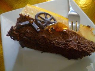 Recette d'entremet mousse au chocolat noir et crème bavaroise à l'orange