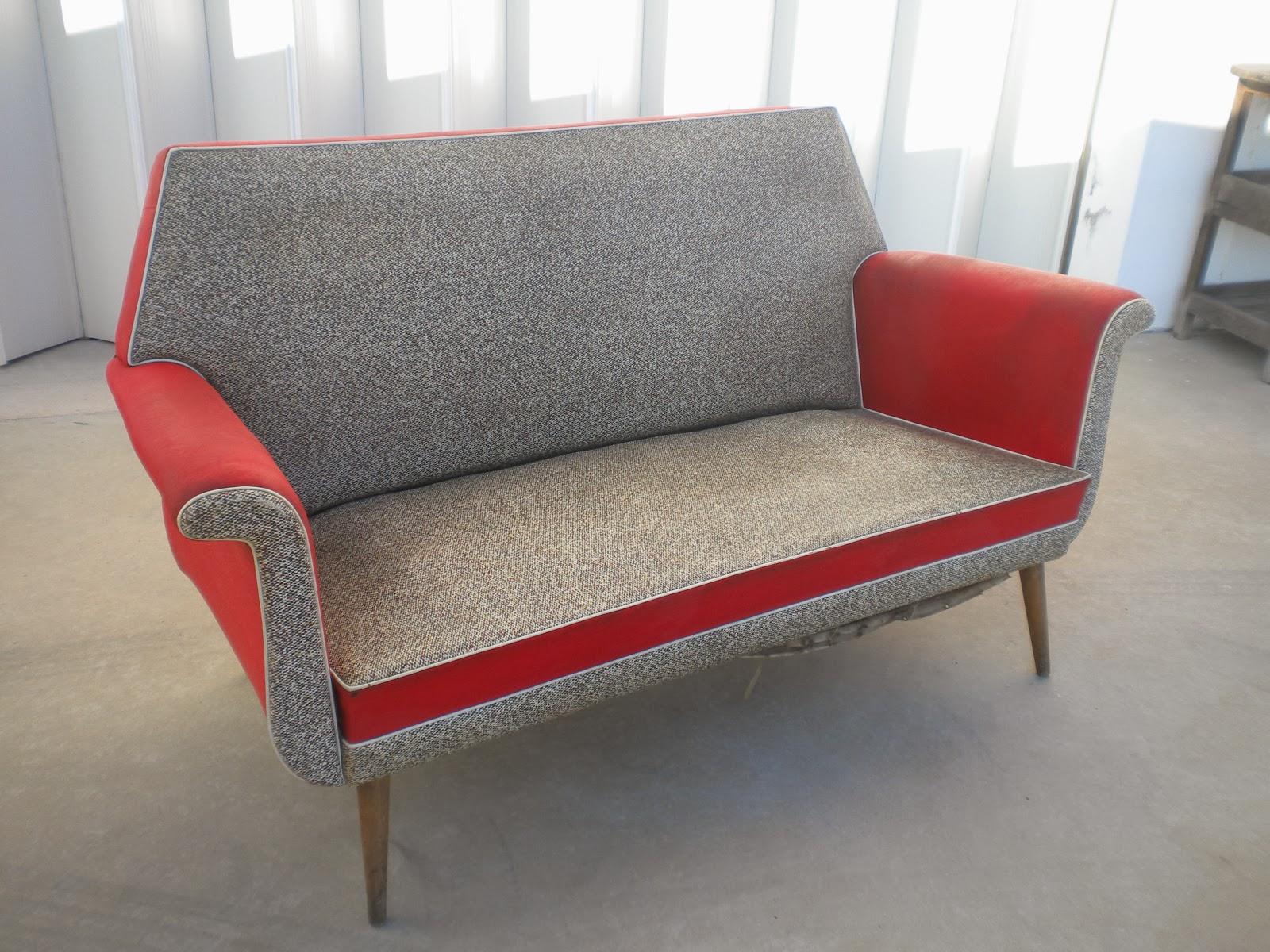 De vintage cadeir o sofa 3 lugares vintage napa for Mobiliario anos 50