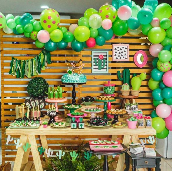 Fiesta tem tica cactus for Ideas para mesas de chuches
