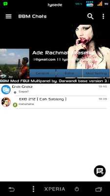 BBM Mod Black White Color - Base Official Version 3.0.0.18 Apk Terbaru