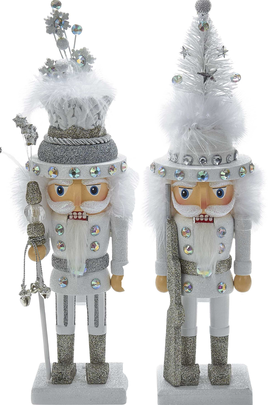 Wayfair 2 Piece Tree and Snowflake Nutcracker Set by Kurt Adler