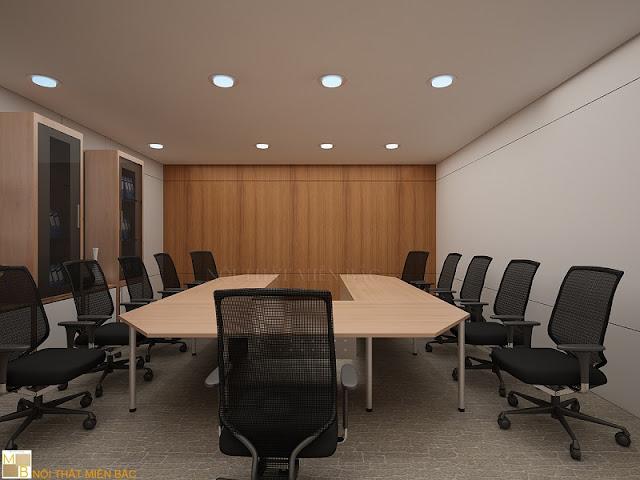 Để mang đến cho căn phòng nét tự nhiên, gần gũi thì việc lựa chọn nội thất phòng họp tone màu gỗ lôi cuốn cũng đảm bảo sự chuyên nghiệp nhất
