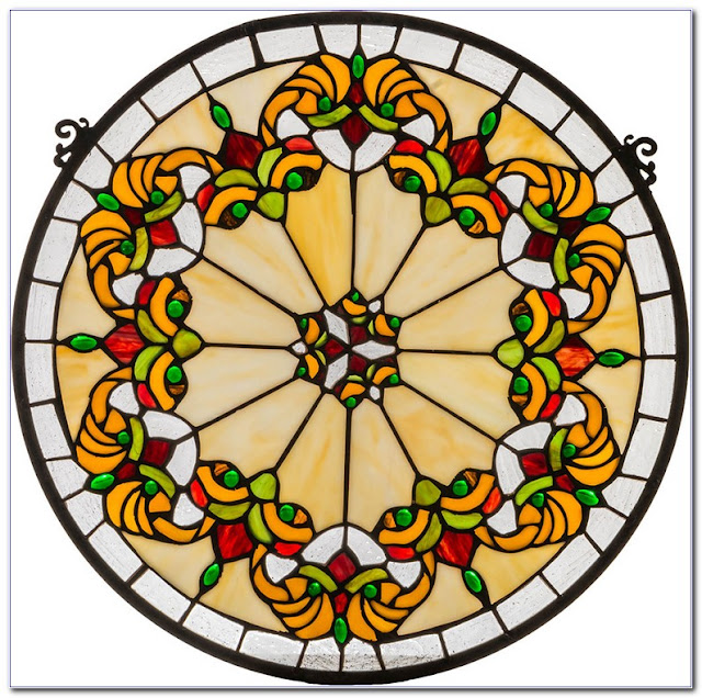 Buy Round Stained GLASS WINDOW Hangings for sale