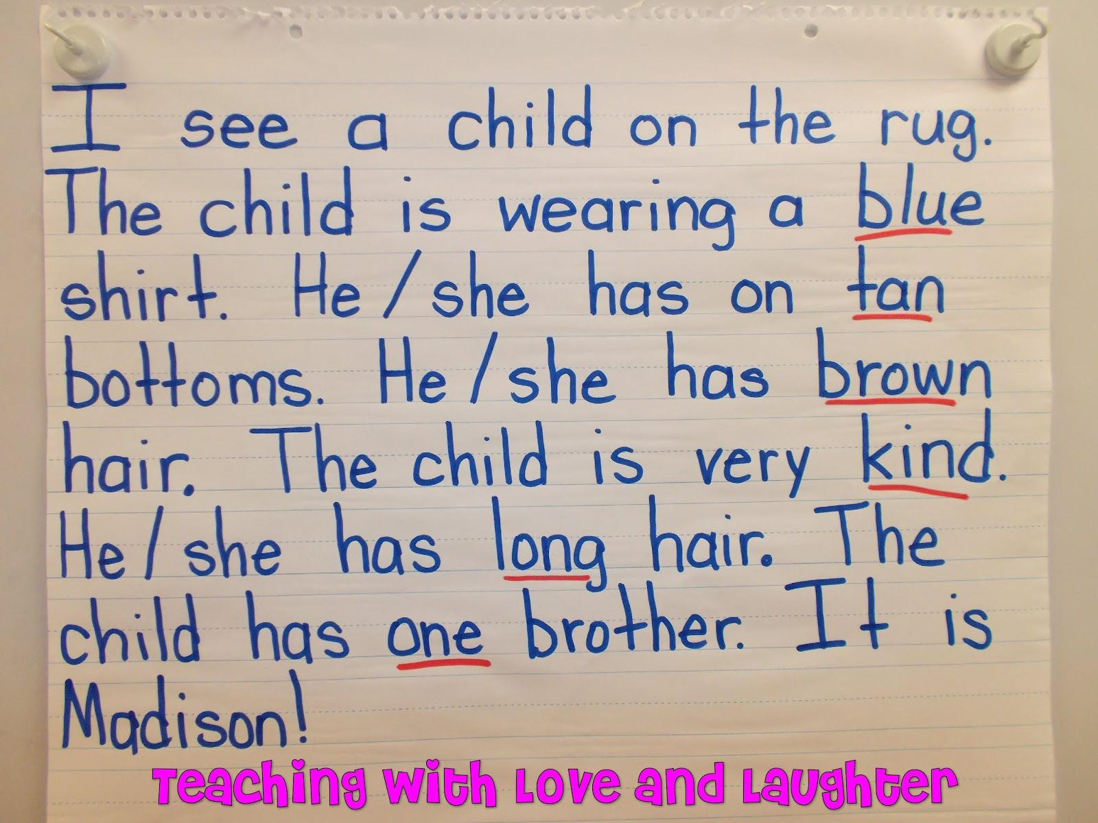 Teaching With Love And Laughter Descriptive Attributes