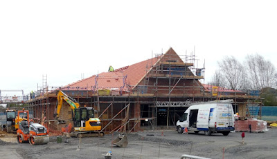 The new Co-op food store in Scawby taking shape in February 2019 - see Nigel Fisher's Brigg Blog