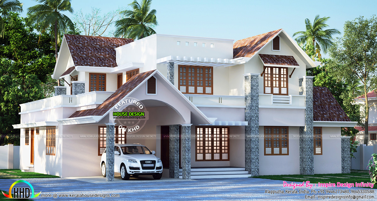January 2016 kerala home design and floor plans for Beautiful house plans with photos