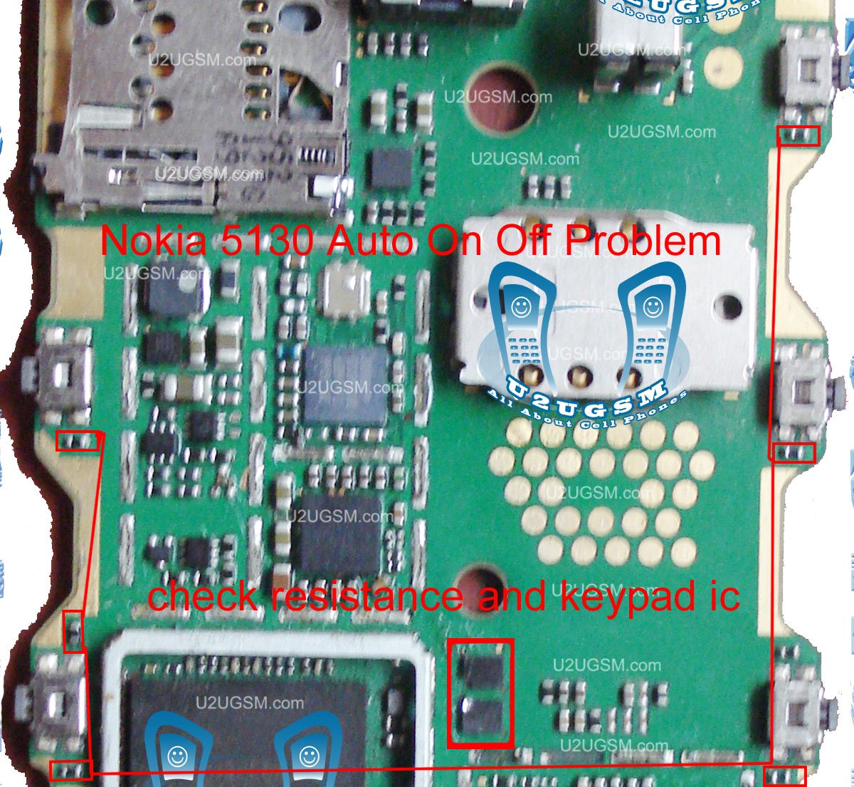 Nokia 5130 Auto On Off Or Restart Problem Solution Parts