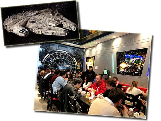 Jedi's Burguer - SP - Lanchonete Star Wars - Millenium Falcon