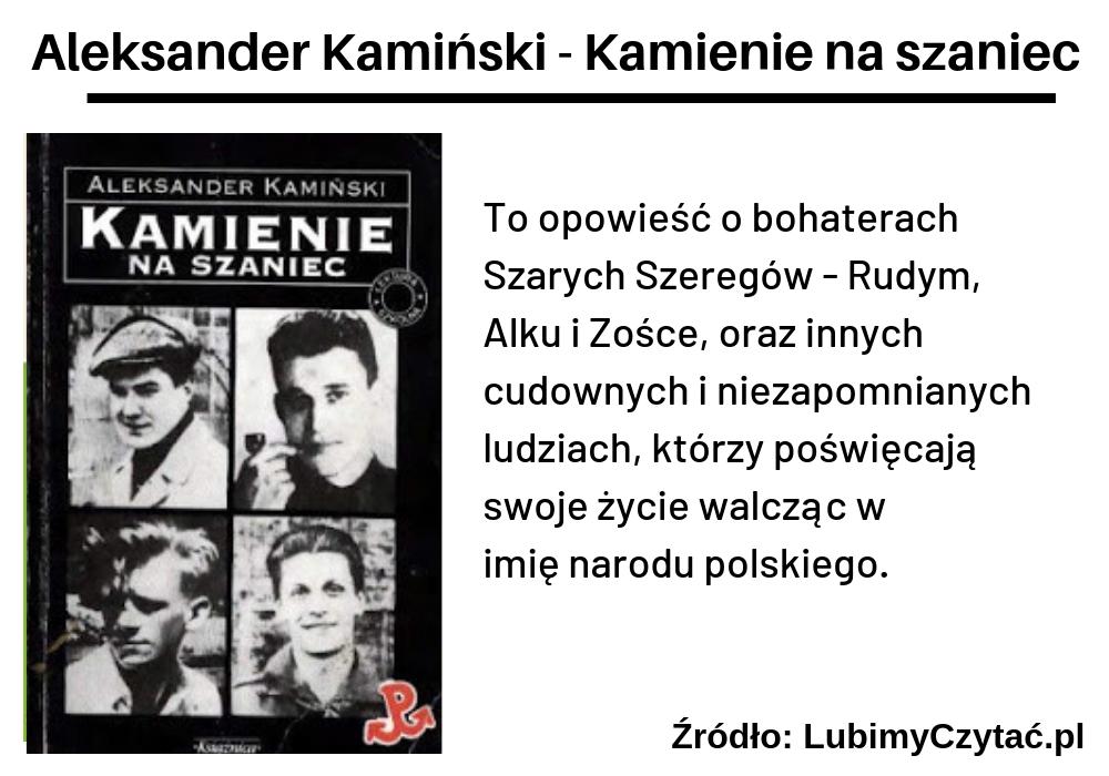 Aleksander Kamiński, Kamienie na szaniec, TOP 10, Marzenie Literackie