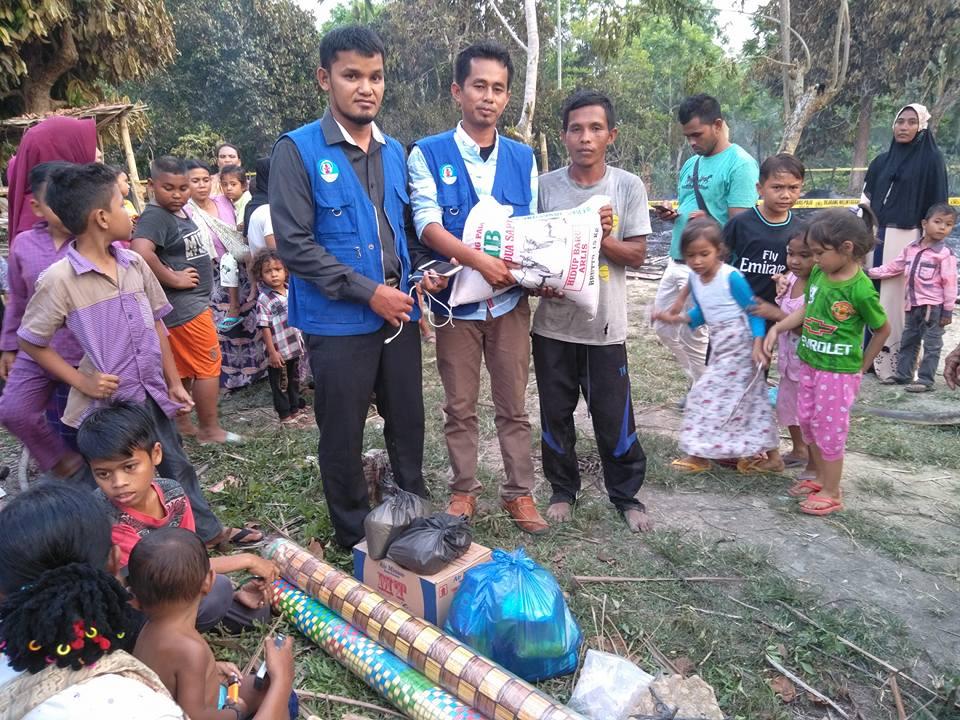 LPD Berikan Bantuan Masa Panik untuk Korban Kebakaran di Aceh Utara