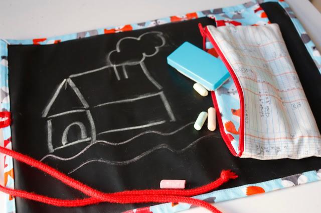 DIY Costura: Pizarra enrollable de Viaje para niños. (Patrones Gratis)