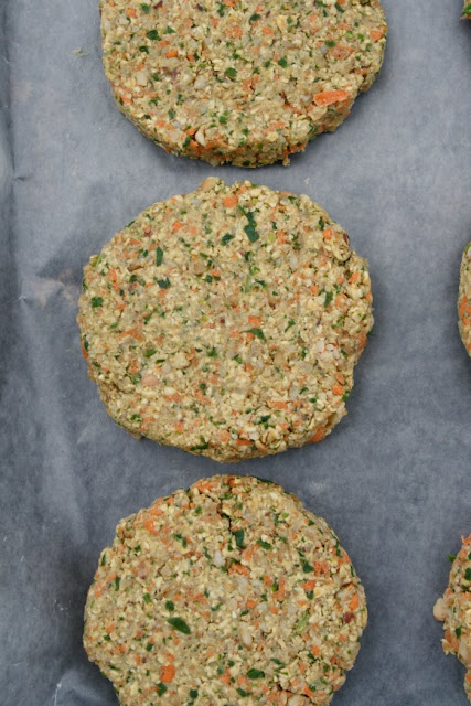 uncooked veggie burgers