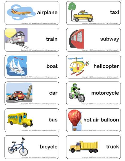 Number Names Worksheets paragraph on means of transport : ALBORÁN ENGLISH CLUB: Means of Transport (3rd Primary)