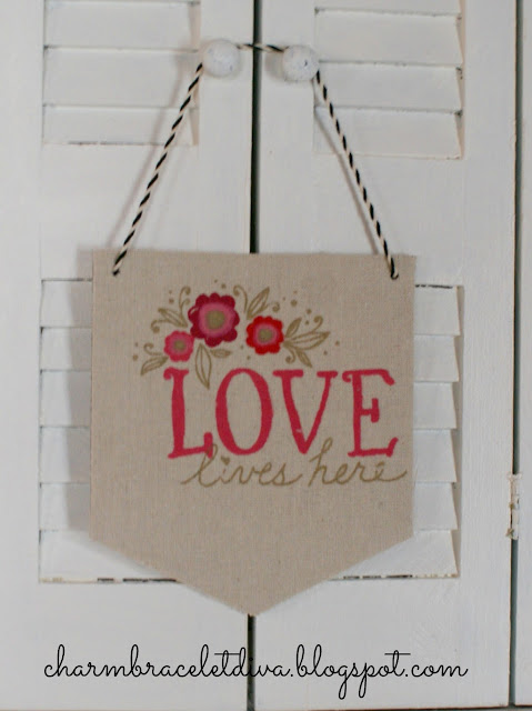 Love lives here painted canvas banner from Target