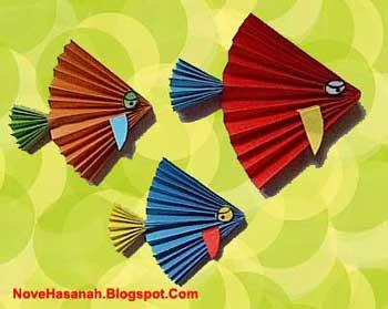 Contoh Prakarya Anak Ikan Kertas