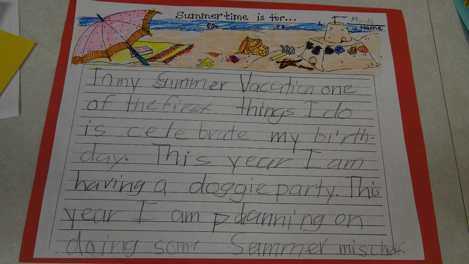 Summer vacations essay for kids